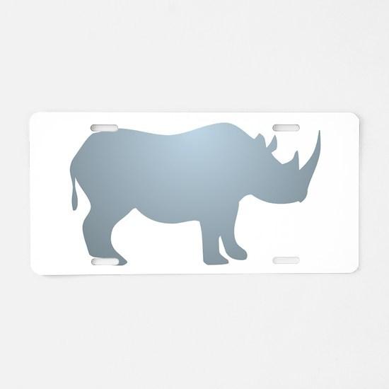 Rhinoceros Rhino Aluminum License Plate