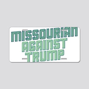 Missourian Against Trump Aluminum License Plate