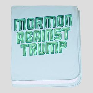 Mormon Against Trump baby blanket