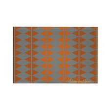 Custom Retro Orange Grey Pattern Magnets