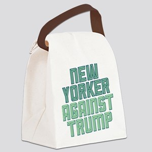 New Yorker Against Trump Canvas Lunch Bag