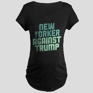 New Yorker Against Trump Maternity T-Shirt