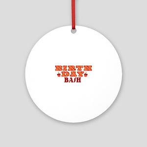 Birthday Bash Round Ornament