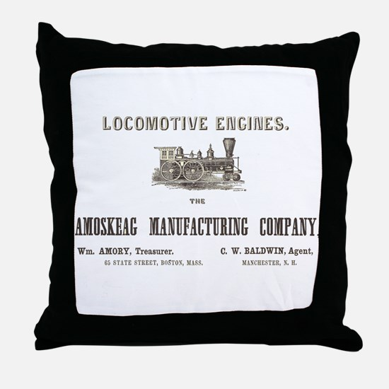 Locomotive Engines Throw Pillow