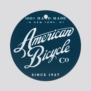 American Bicycle Round Ornament