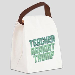 Teacher Against Trump Canvas Lunch Bag