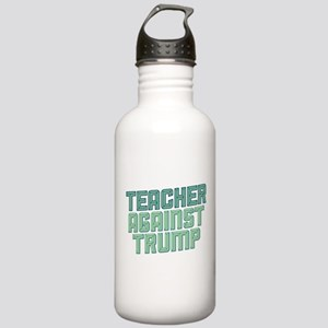 Teacher Against Trump Water Bottle