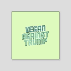 Vegan Against Trump Sticker