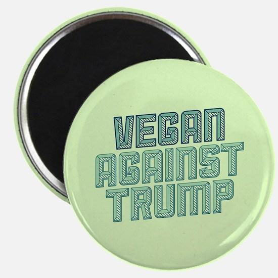 Vegan Against Trump Magnets