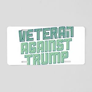 Veteran Against Trump Aluminum License Plate