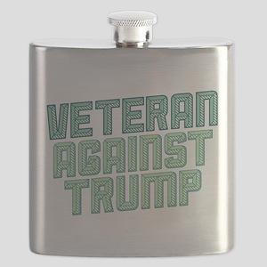 Veteran Against Trump Flask