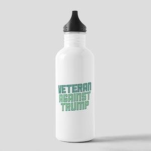Veteran Against Trump Water Bottle
