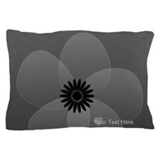 Chic Glam Grey Flower Pillow Case