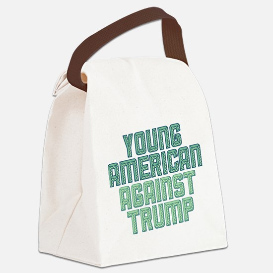 Young American Against Trump Canvas Lunch Bag