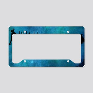 Clothesline silhouette License Plate Holder