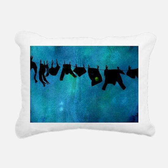 Clothesline silhouette Rectangular Canvas Pillow