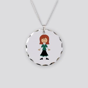 TEACHER STICK WOMAN Necklace