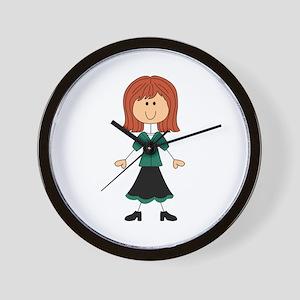 TEACHER STICK WOMAN Wall Clock