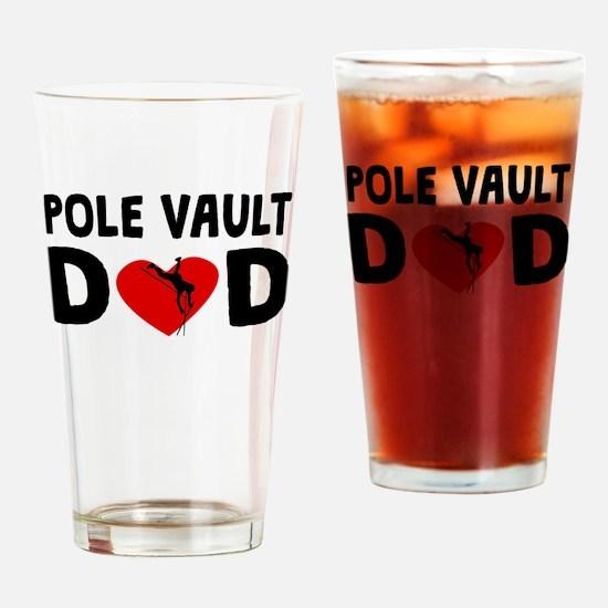 Pole Vault Dad Drinking Glass