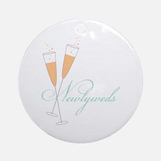 Newlywed Round Ornament