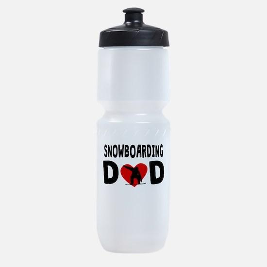 Snowboarding Dad Sports Bottle