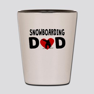 Snowboarding Dad Shot Glass