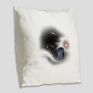 Storm Burlap Throw Pillow