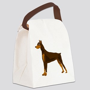Doberman Pinscher Dog Art Canvas Lunch Bag
