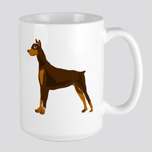 Doberman Pinscher Dog Art Large Mug