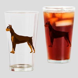 Doberman Pinscher Dog Art Drinking Glass