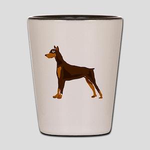 Doberman Pinscher Dog Art Shot Glass