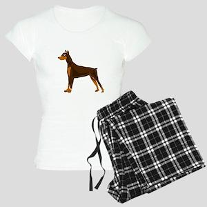 Doberman Pinscher Dog Art Women's Light Pajamas
