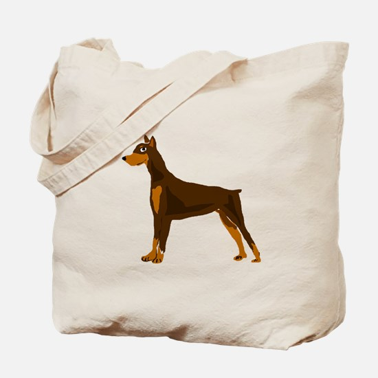Doberman Pinscher Dog Art Tote Bag