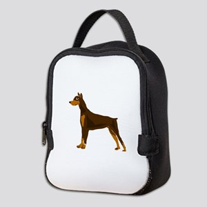 Doberman Pinscher Dog Art Neoprene Lunch Bag