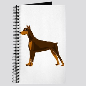 Doberman Pinscher Dog Art Journal