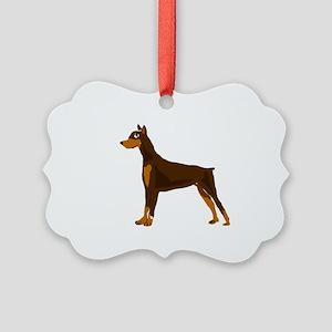 Doberman Pinscher Dog Art Picture Ornament