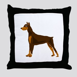 Doberman Pinscher Dog Art Throw Pillow