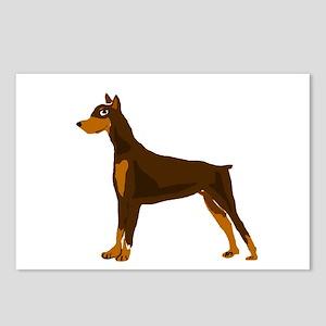 Doberman Pinscher Dog Art Postcards (Package of 8)