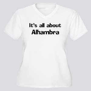About Alhambra Women's Plus Size V-Neck T-Shirt