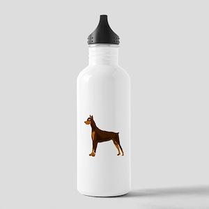 Doberman Pinscher Dog Stainless Water Bottle 1.0L