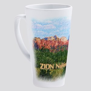 Zion National Park, Utah 17 oz Latte Mug