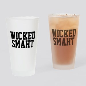Wicked smaht funny Boston accent Drinking Glass