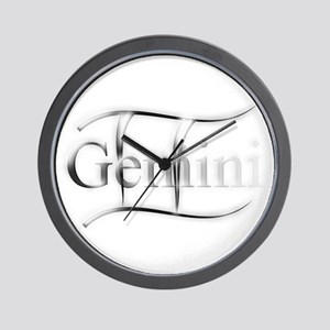 Gemini Astrology Graphic by Virginias T Wall Clock