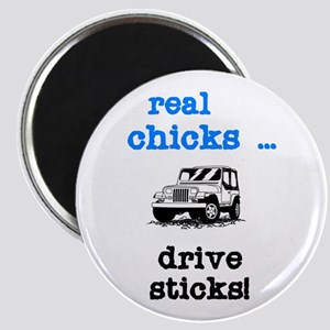 Real Chicks Drive Sticks! Magnet