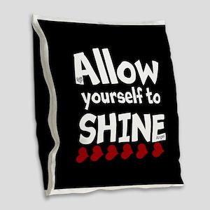 Allow yourself to SHINE! Burlap Throw Pillow
