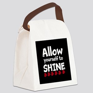 Allow yourself to SHINE! Canvas Lunch Bag