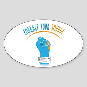 Smudge Blue Sticker (oval)