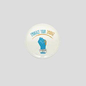 Smudge Blue Mini Button