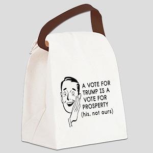 Anti Trump Prosperity Canvas Lunch Bag