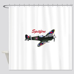 SPITFIRE PLANE Shower Curtain